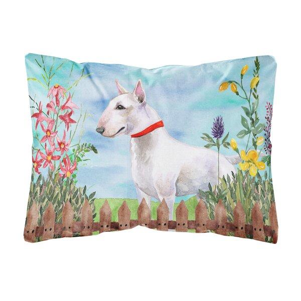 Lanier Bull Terrier Spring Indoor/Outdoor Throw Pillow by Winston Porter