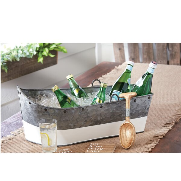 Boat Shaped Galvanized Tin Beverage Tub by Mud Pie
