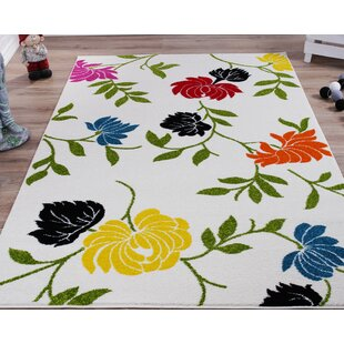 Compare prices Osterhout Floral White Area Rug ByWinston Porter