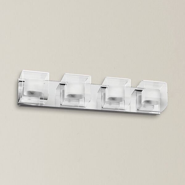 Casey Clear/Frosted Glass Vanity 4-Light Bath Bar by Latitude Run