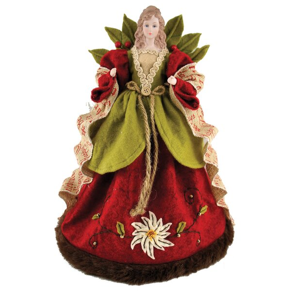 Folk Art Angel Tree Topper by August Grove