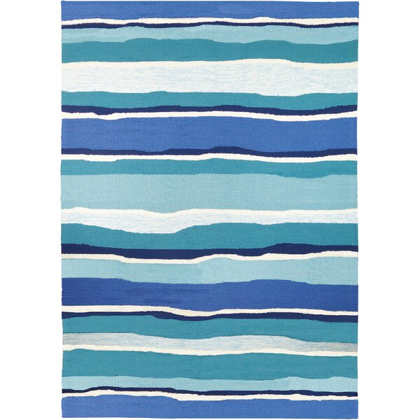 Dao Sea Breeze Blues Hand-Woven Blue Indoor/Outdoor Area Rug by Highland Dunes