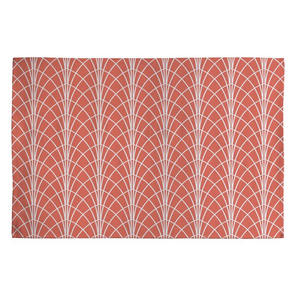 Heather Dutton Arcada Persimmon Orange Geometric Area Rug by Deny Designs