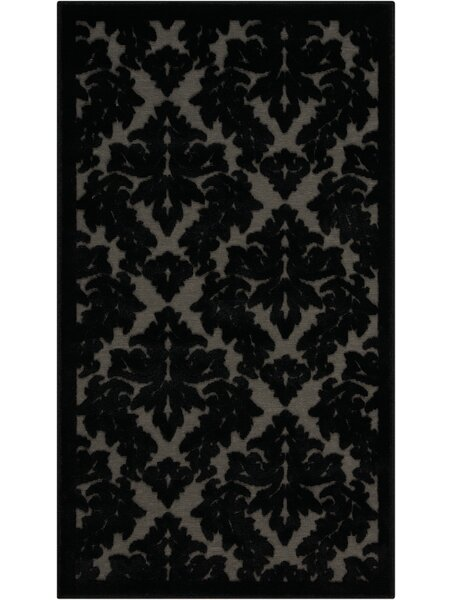 Hartz Gray/Black Area Rug by House of Hampton
