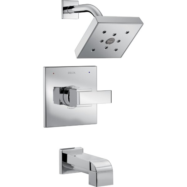 Ara Thermostatic Tub and Shower Faucet with Trim and H2okinetic Technology by Delta