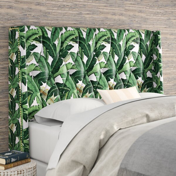 Whitman Tufted Upholstered Wingback Headboard by Beachcrest Home
