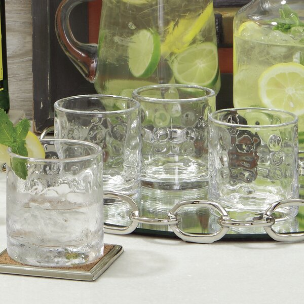 Honeycomb Double Old Fashioned Glass (Set of 4) by Global Views