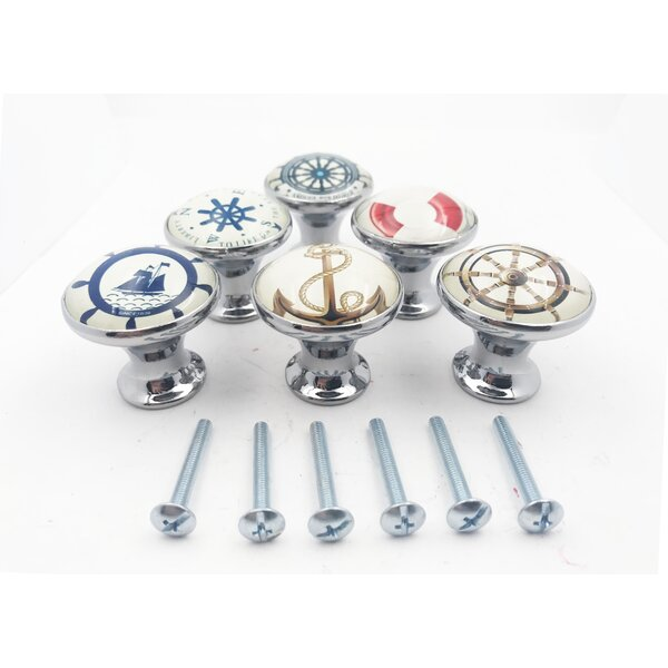 Nautical Boat 6 Piece Mushroom Knob Set Multipack (Set of 6) by Shabby Restore