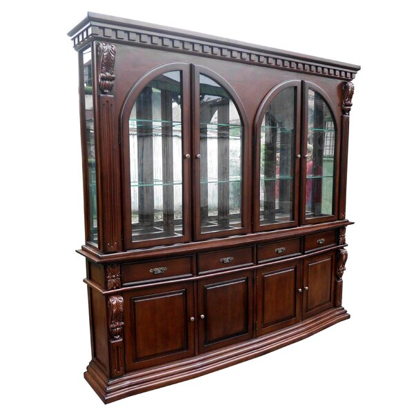 Sheraton Lighted China Cabinet by D-Art Collection