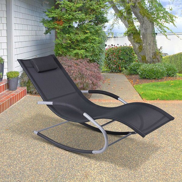 Shane Outdoor Poolside Wave Rocker Reclining Zero Gravity Chair by Bay Isle Home Bay Isle Home