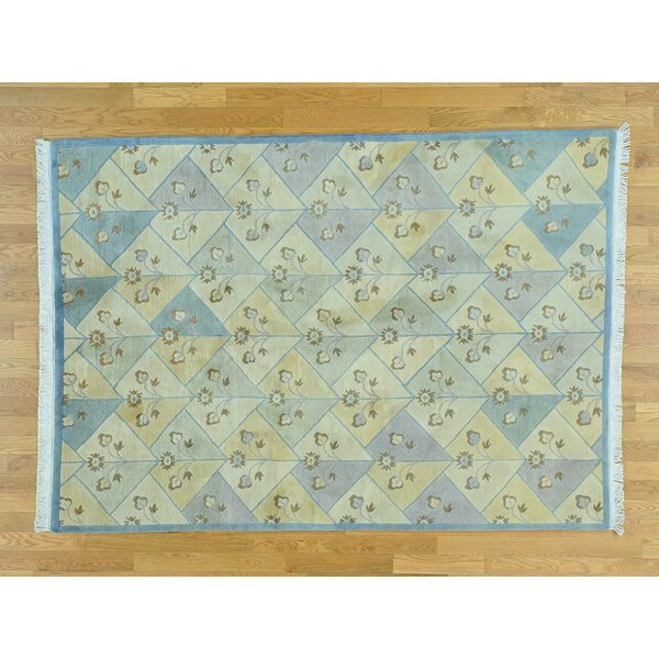 One-of-a-Kind Berndt Tibetan Hand-Knotted Wool Area Rug by Isabelline
