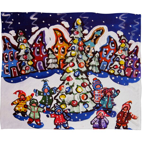 Renie Britenbucher Oh Christmas Tree Plush Fleece Throw Blanket by Deny Designs