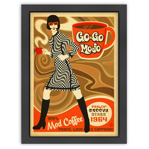 Go go Mojo Framed Vintage Advertisement by East Urban Home