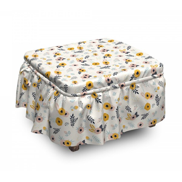 Romantic Nature Art Ottoman Slipcover (Set Of 2) By East Urban Home