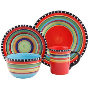 Carvey Pueblo Springs 16 Piece Dinnerware Set, Service for 4