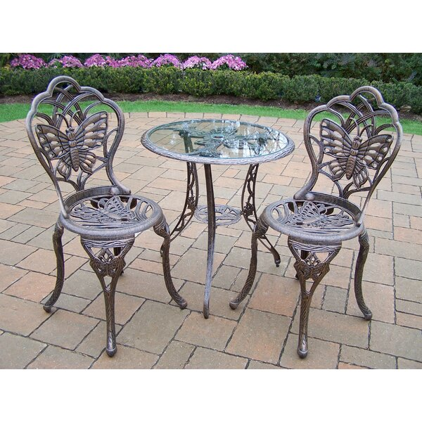 Butterfly 3 Piece Bistro Set by Oakland Living