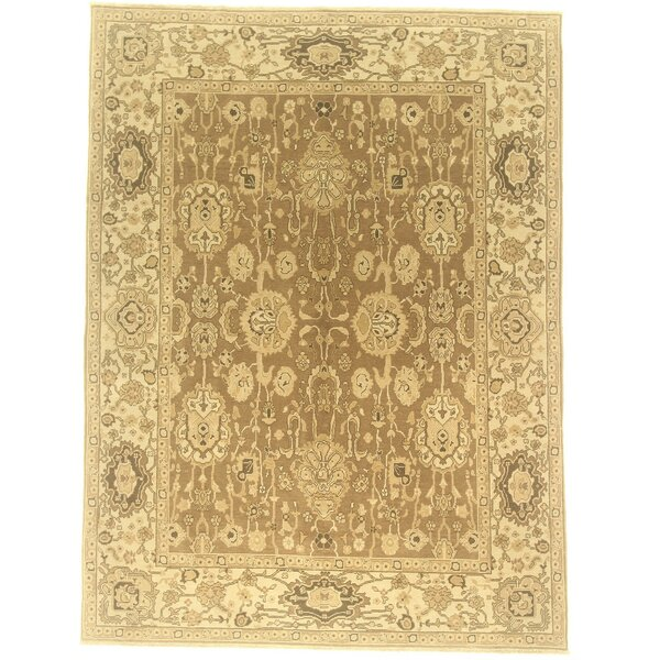 One-of-a-Kind Copper Hand-Knotted Wool Beige Area Rug by Isabelline