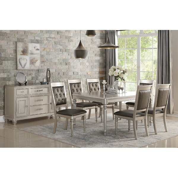 Philippa 7 Piece Solid Wood Dining Set by Rosdorf Park