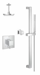 Modern Square Rain Shower Head Complete Shower System by Grohe