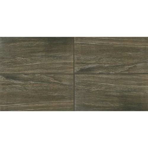 Marin 12 x 24 Porcelain Wood Look Tile in Suspension by Itona Tile