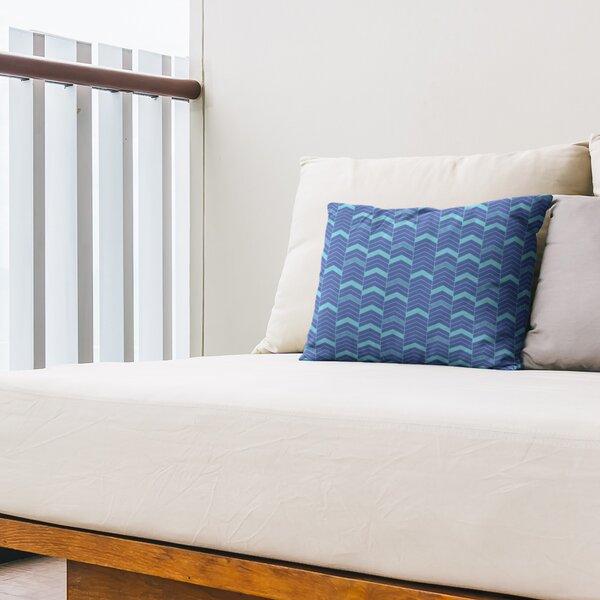 Single Lined Chevrons Indoor/Outdoor Lumbar Pillow