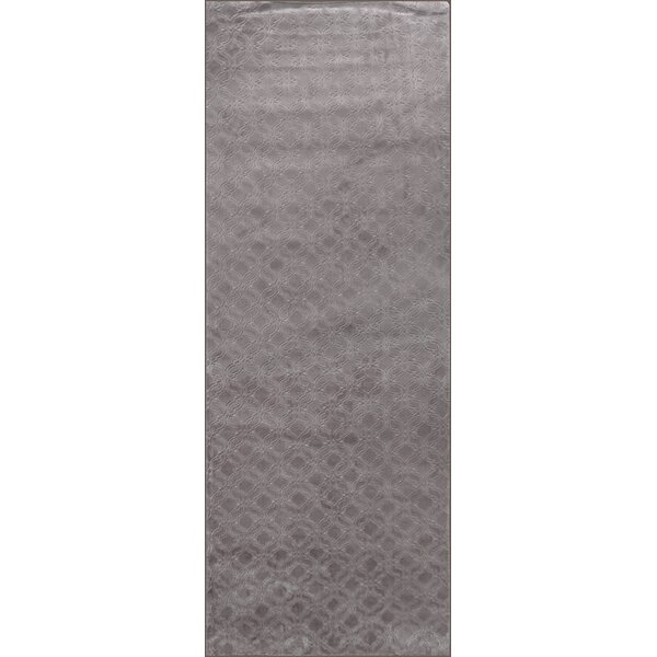 Gauna Brown/Taupe Print Absorbent Soft Multiple Non-Slip Geometric Bath Rug