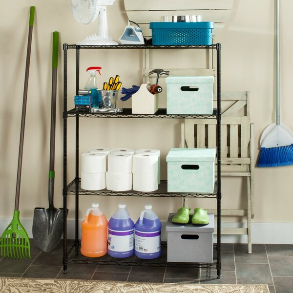 4 Tier Shelving Unit by Symple Stuff