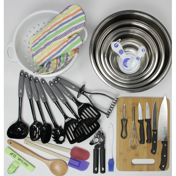 41 Piece My First Kitchen Starter Pack for Weddings Utensil Set by Chef Craft
