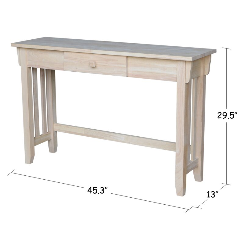 Unfinished Mission Console Table