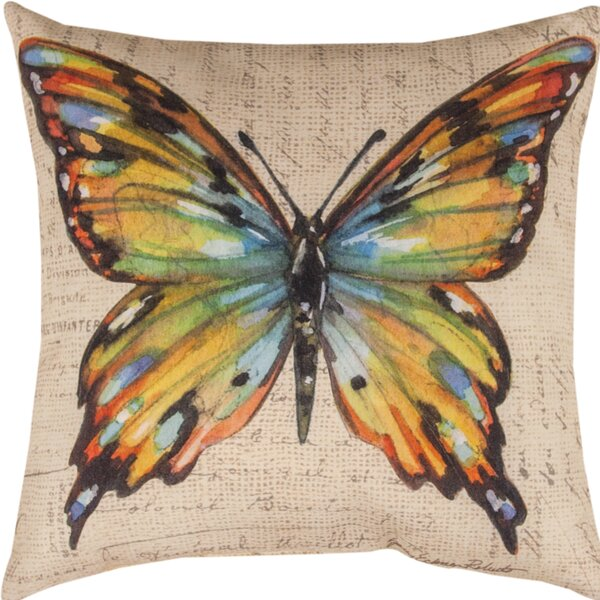 Butterfly Wings Throw Pillow by Manual Woodworkers & Weavers