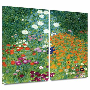 Farm Garden by Gustav Klimt 2 Piece Painting Print on Wrapped Canvas Set by ArtWall