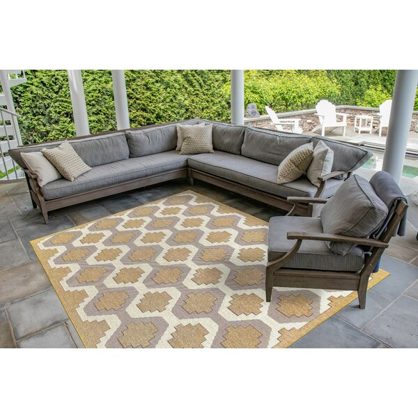 Arverne Geo Sand Indoor/Outdoor Area Rug by Charlton Home