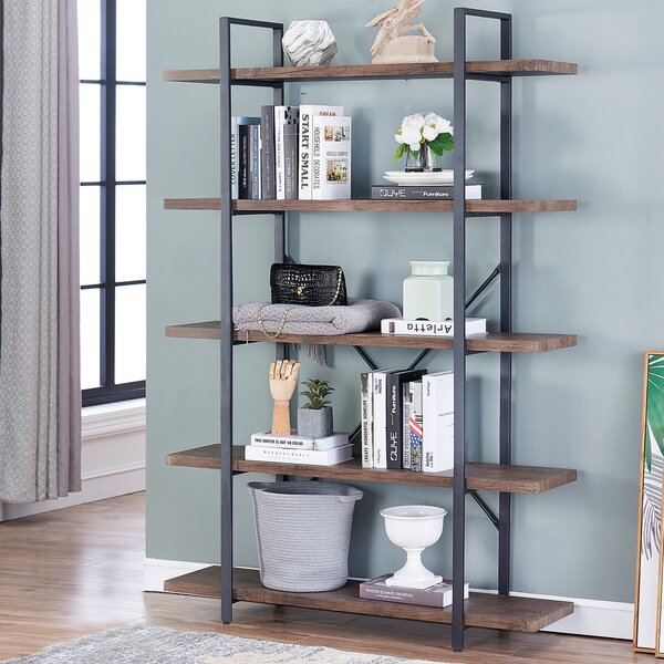 Liggett Industrial Etagere Bookcase by Williston Forge