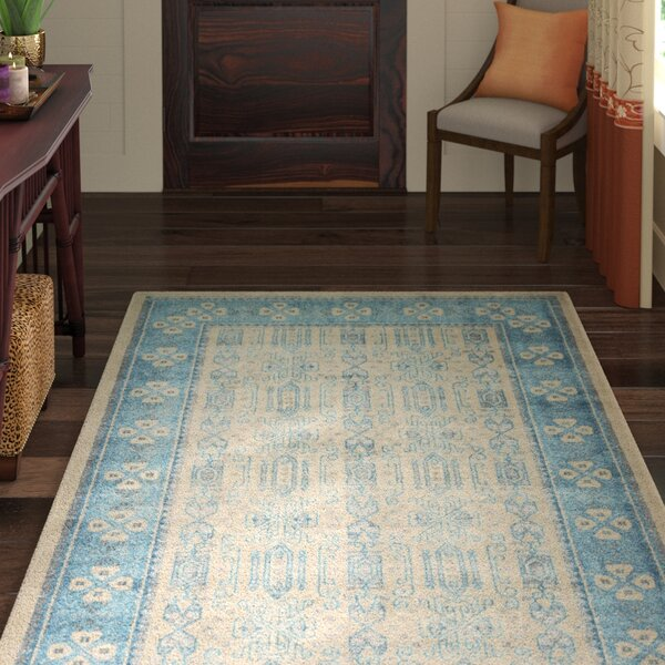 Brierfield Beige/Blue Area Rug by World Menagerie