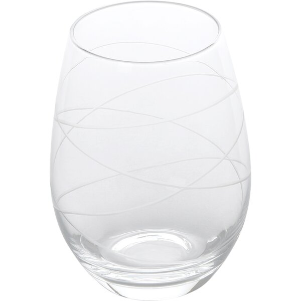 Stemless 17 Oz. Wine Glass (Set of 4) by Style Setter