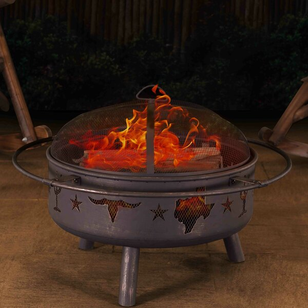 Jasper Steel Wood Burning Fire Pit by Sunjoy