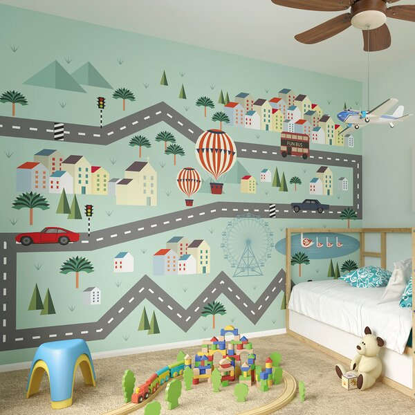 Mini Adventure Wall Mural by Brewster Home Fashions