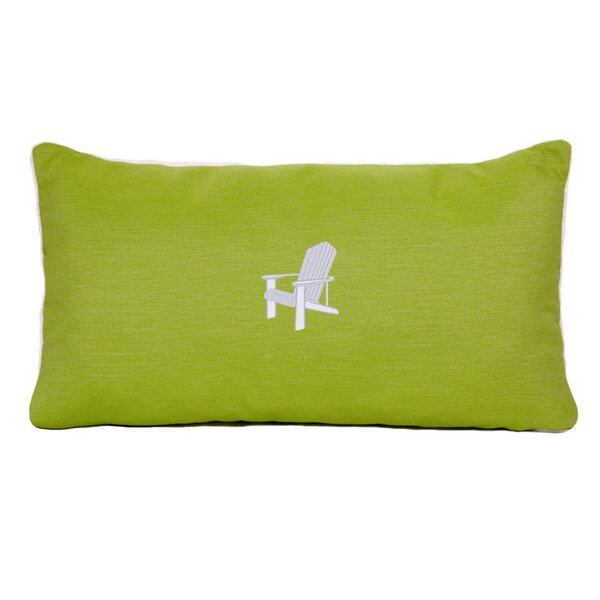 Adirondack Beach Outdoor Sunbrella Lumbar Pillow by Nantucket Bound