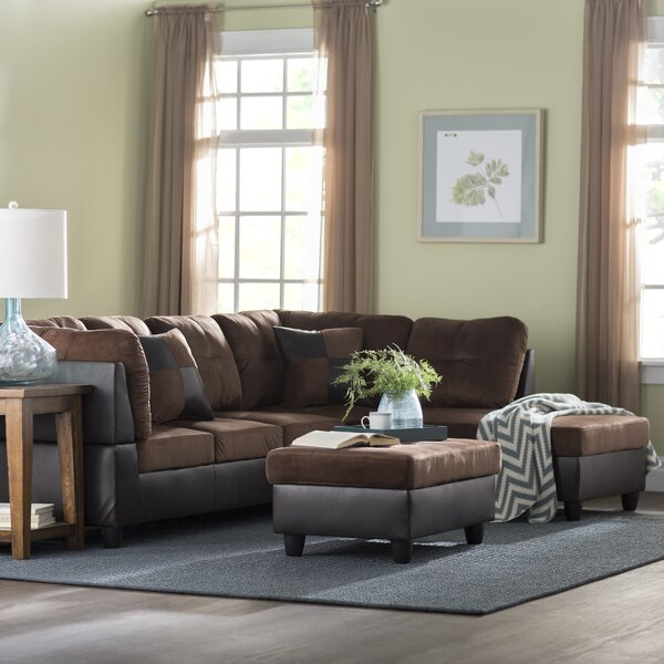 Russ Sectional With Ottoman By Andover Mills.