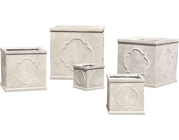 Hamilton Quatrefoil 5-Piece Fibreclay Planter Box Set by One Allium Way