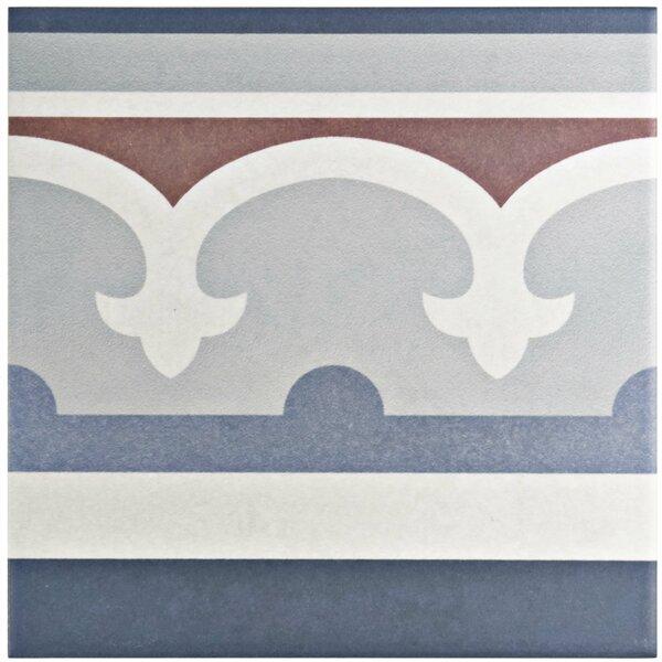 Grotta 7.88 x 7.88 Porcelain Field Tile in Blue/Red by EliteTile