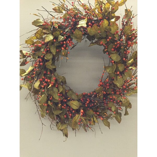 Fall 38 Berry and Leaf Wreath by The Holiday Aisle