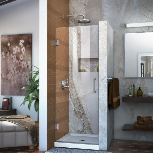 Unidoor 29 x 72 Hinged Frameless Shower Door with Clearmax™ Technology by DreamLine