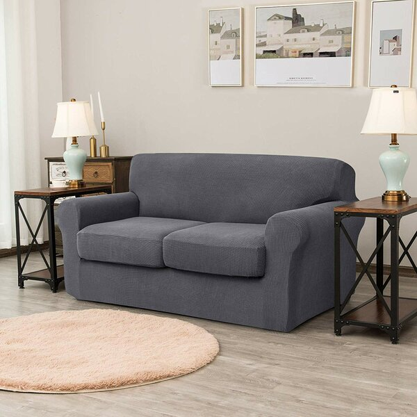 Stretch Box Cushion Loveseat Slipcover By Red Barrel Studio