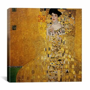 'Portrait of Adele Bloch-Bauer I' by Gustav Klimt Graphic Art on Canvas by iCanvas