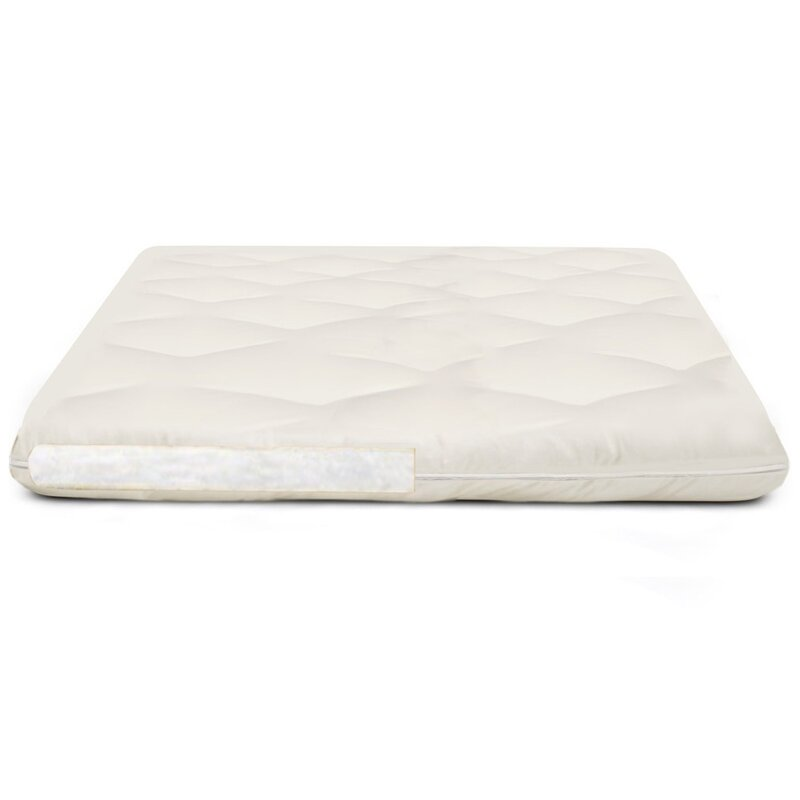 Twin X-Long Simple Comforts Feather and Down Mattress Pad with Anchor Band Security Straps White