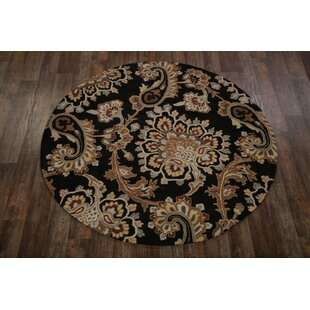Best Reviews One-of-a-Kind Bovill Agra Oriental Hand-Tufted 8' 1'' X 8' 1'' Wool Brown/Black Area Rug By Canora Grey
