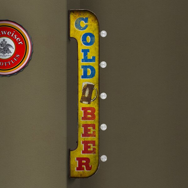 Cold Beer LED Marquee Sign by Williston Forge
