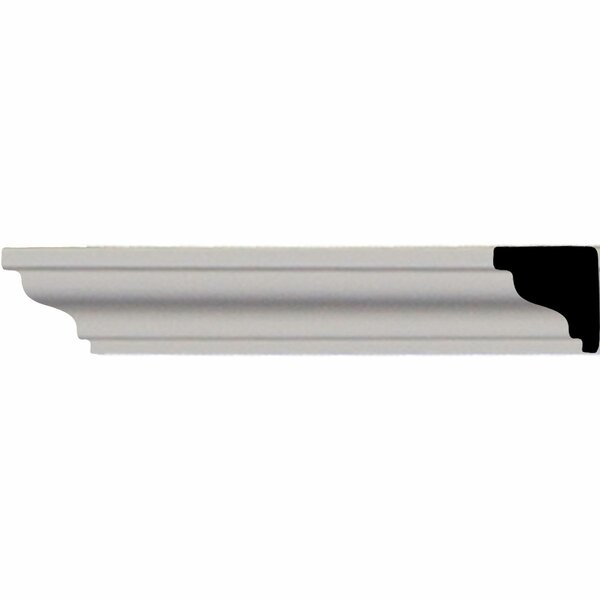 Hillsborough Traditional Smooth 3/4H x 96 1/8W x 3/4D Crown Moulding by Ekena Millwork