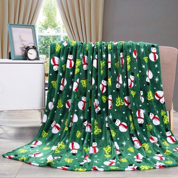 Adcock Christmas Fleece Throw by The Holiday Aisle